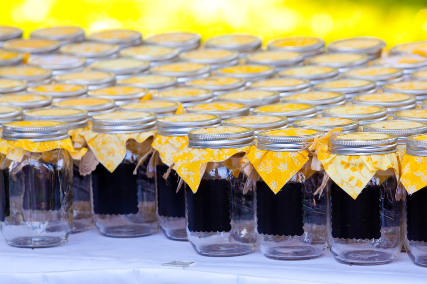 Wedding  Jars with Yellow
