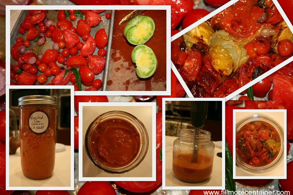 Roasted Tomato Sauce Collage