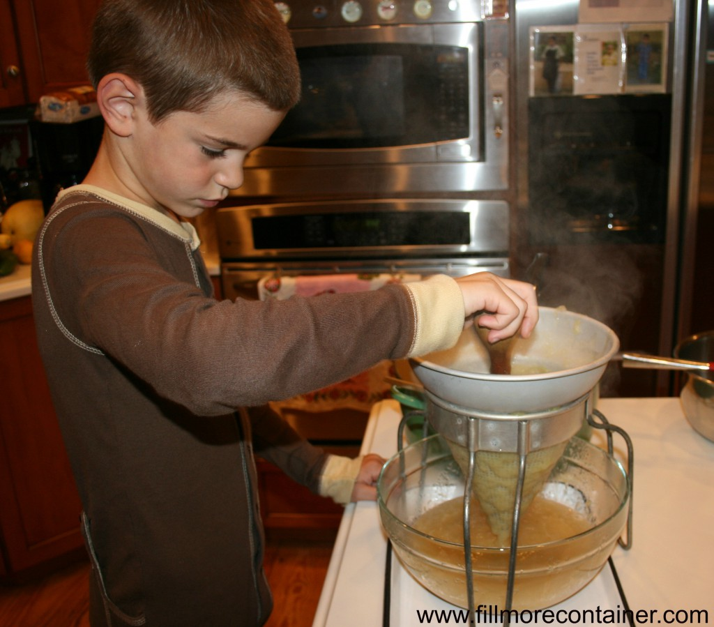 Straining Applesauce