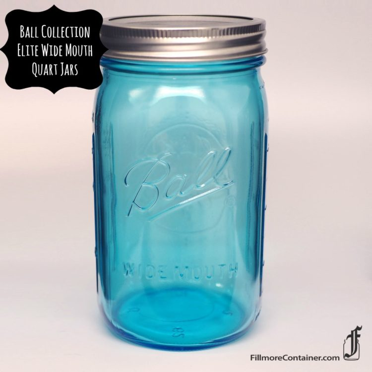 Blue Quart Wide Mouth Jar Fillmore Container