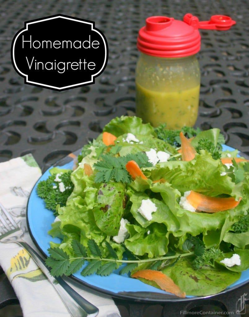 Dill Vinaigrette reCap Salad with space
