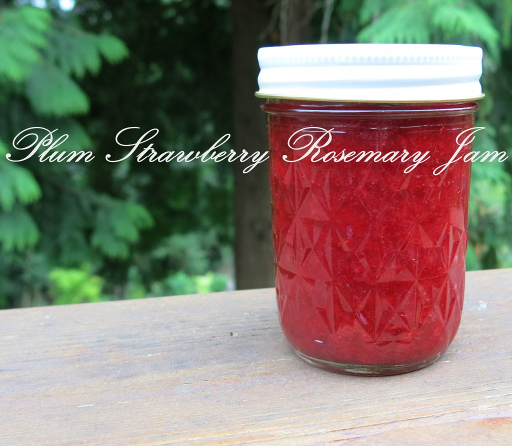 Plum Strawberry Rosemary Jam