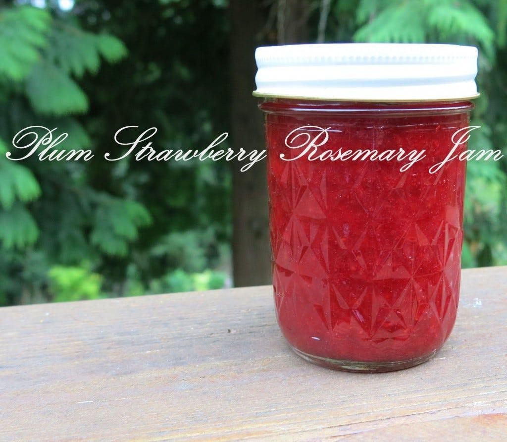 Plum Strawberry Rosemary Jam
