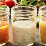 salad dressing in jar