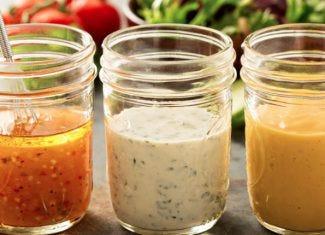 salad dressing in jar