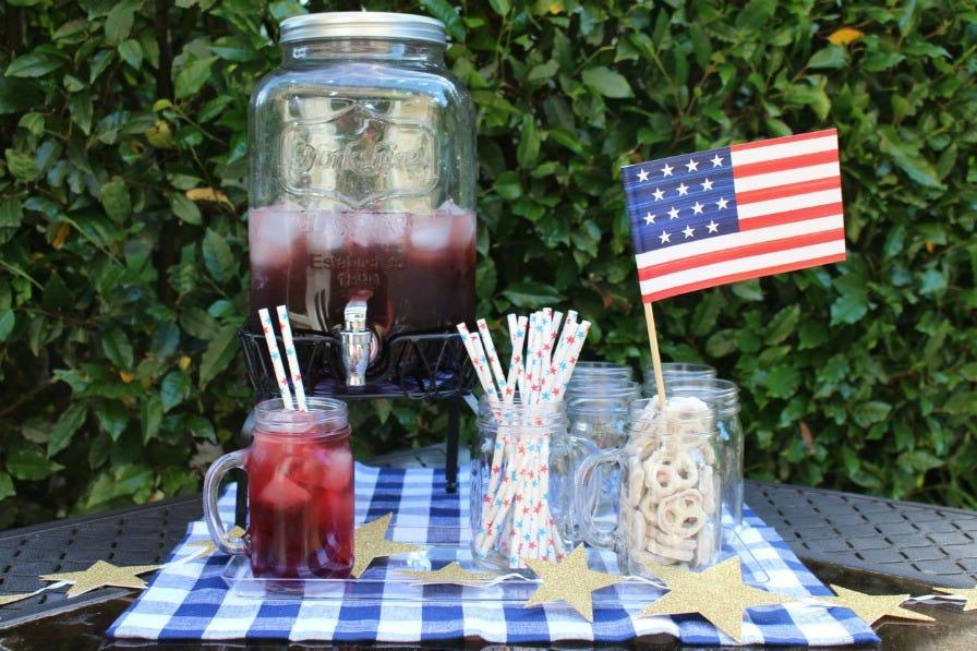 4th of July Mason Jar Dispenser