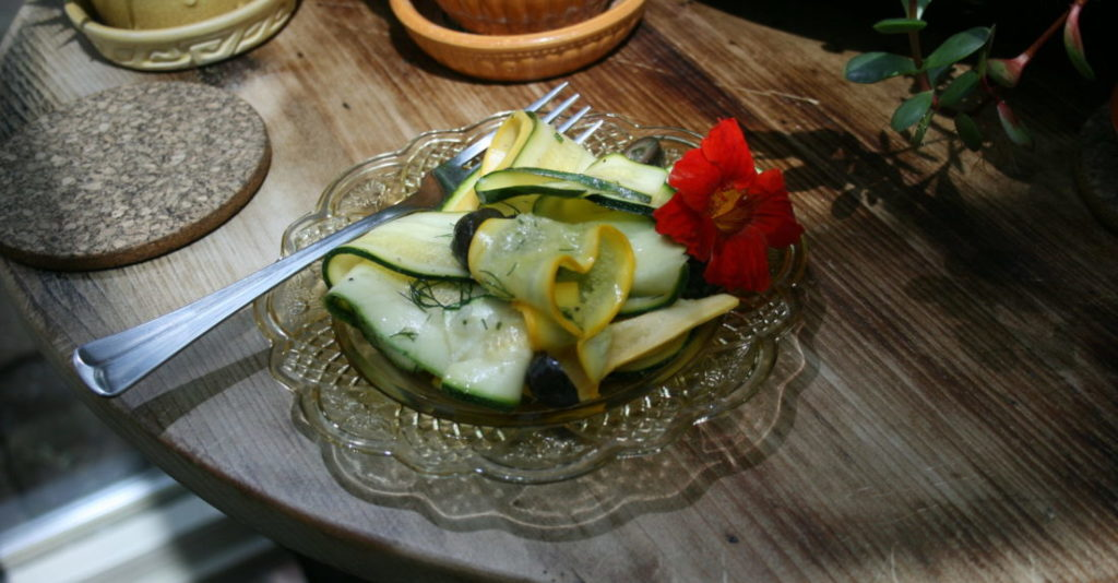 Lemony Dill Zucchini Salad