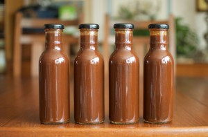 four-finished-jars-of-barbecue-sauce