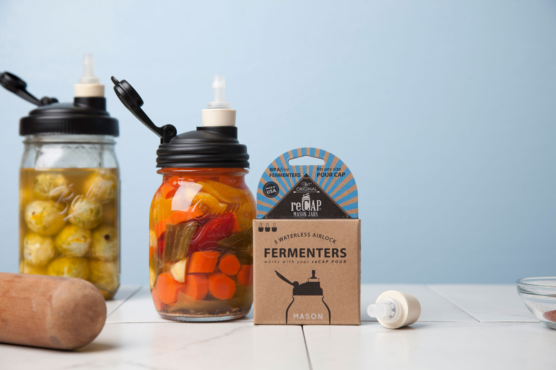 reCAP Fermenter - Waterless Airlock