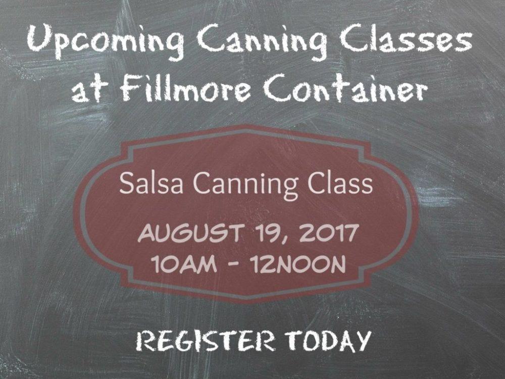 Salsa Canning Class