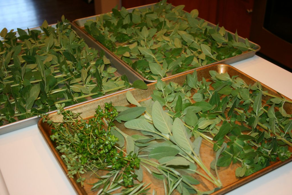 Herbs ready for the oven