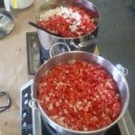 salsa in pots