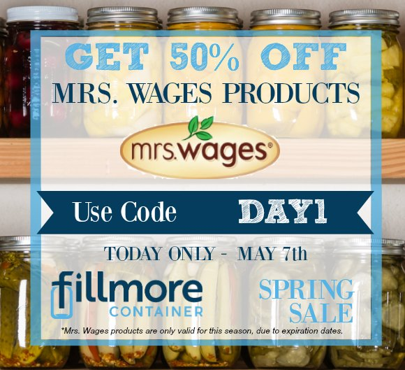 DAY 1 Mrs Wages 50% Off