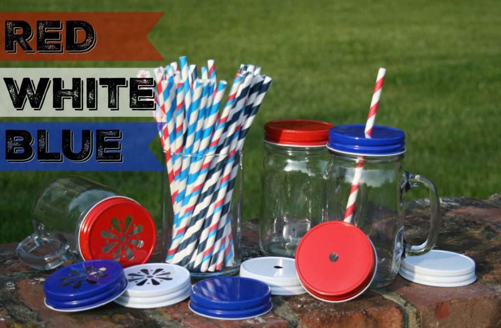 Red White BlueDrinks Straws Hole Lids Daisy Lids_1