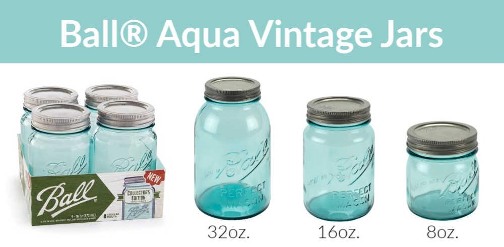 Limited Edition Aqua Vintage Jars Fillmore Container