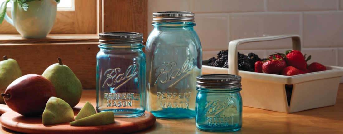 Aqua Vintage Jars