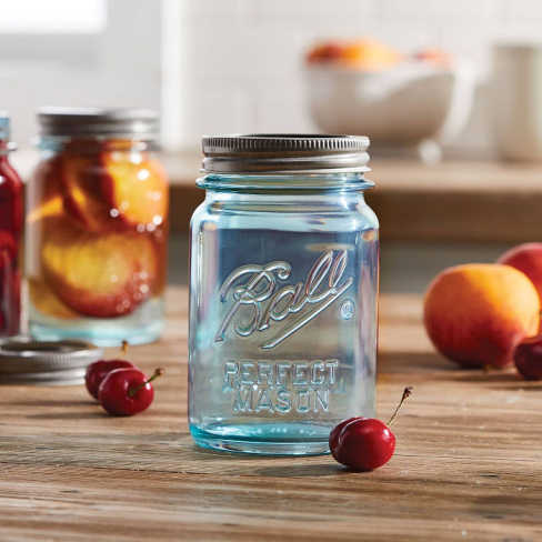 Aqua Vintage - Pint Jar