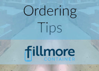Ordering Tips - Fillmore Container