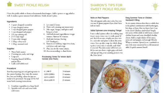 Simply Canning Book Recipes