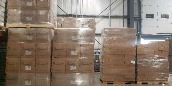 pallets wrapped