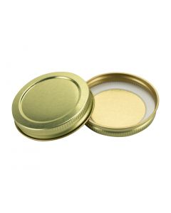 58-400 Gold Plastisol Lined Lid (Case of 2000) - Fillmore Container