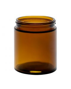6 oz Amber Straight Sided Glass Jar (Case of 12) - Fillmore Container