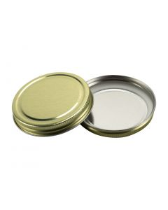 Gold Continuous Thread metal lid for 70/400 containers