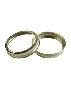Canning Jar Rings - Wide Mouth Mason Bands Only (Gold)