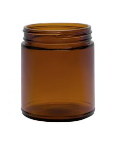 9 oz Amber Round Straight Sided Jar (Case of 12) Fillmore Container