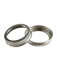 Canning Jar Rings - Regular Mouth Mason Bands Only (Silver)