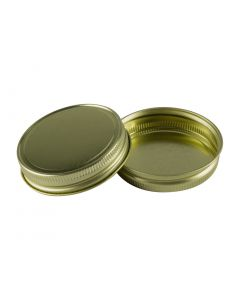 Gold Metal Mason Jar Lids with no liner - Fillmore Container
