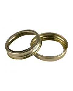 70mm Gold Regular Mouth Bands - Bulk