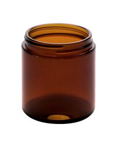 4 oz Amber Straight Sided Jar (Case of 24) - Fillmore Container