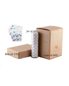 Paper Straws Wholesale Red and Blue Stars   Aardvark®