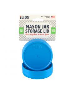 Storage Lid for Mason Jar iLid Regular Mouth Sky Blue