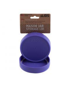 Storage Lid for Mason Jar iLID Wide Mouth - PURPLE