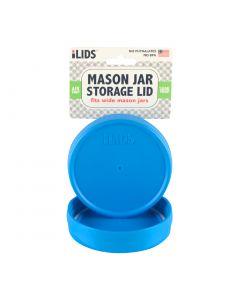 Storage Lid for Mason Jar iLid Wide Mouth - SKY BLUE