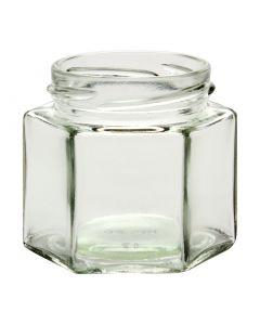4 oz Hexagon Glass Jar (Case of 12) - Fillmore Container