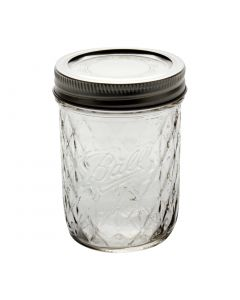 8 oz Ball Quilted Crystal Jar (Case of 12) - Fillmore Container