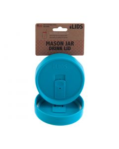 Drink Lid for Mason Jar iLid Wide Mouth_ Aqua BlueIL WM DRK Aqua Blue