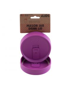 Drink Lid for Mason Jar iLid Wide Mouth MulberryIL WM DRK Mulberry