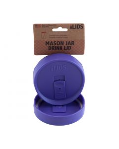 Drink Lid for Mason Jar iLid Wide Mouth PurpleIL WM DRK Purple