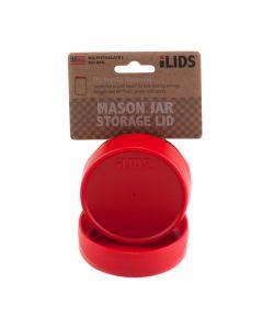 Storage Lid for Mason Jar iLid Regular Mouth RedIL RM Storage Red