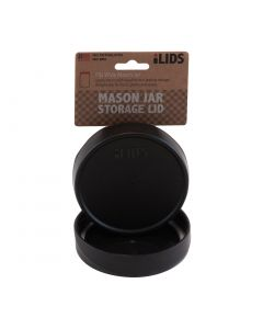 Storage Lid for Mason Jar iLid Wide Mouth  BlackIL WM Storage Black