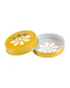 Yellow Daisy Mason Lid Unlined G701RC-G70 DYU