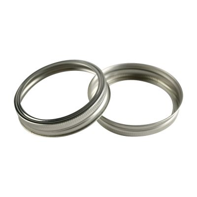Canning Jar Rings Wide Mouth Mason Bands Only Silver