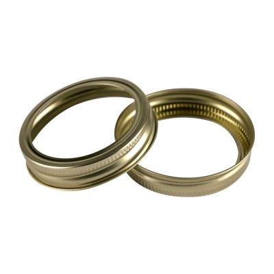 70mm Gold Regular Mouth Bands Bulk Details Canning Jar Rings