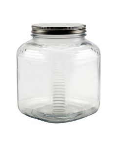 1 Gallon Cracker Jar with Brushed Silver LidH85725