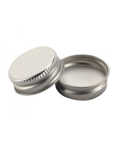 28-400 Silver Metal CT Lid with Plastisol Liner