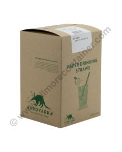 "7.75"" Eco-Flex Paper Straw - Black 